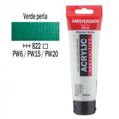 Acrílico Amsterdam 120ml Verde Perla 822