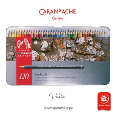 PABLO de CARAN D'ACHE x120 Estuche metalico