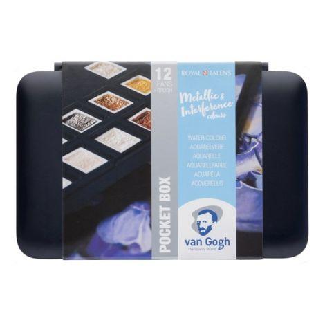 Acuarela Van Gogh x12 pastillas Metalicas