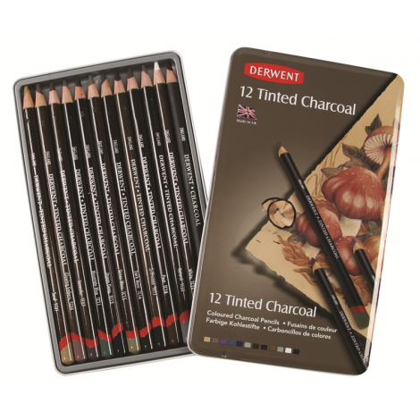 Derwent Tinted Charcoal x12