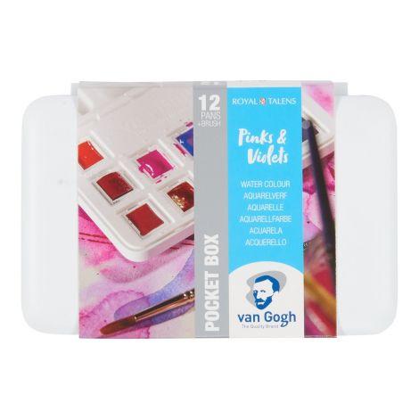 Acuarela Van Gogh x12 pastillas selec Pinks & Violets