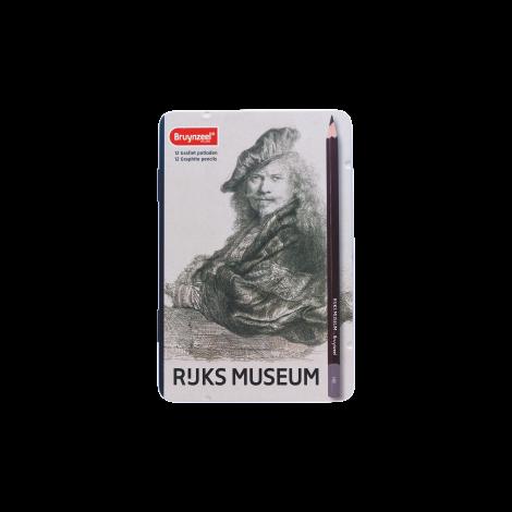 Rijksmuseum Bruynzeel Lápices de grafito x12 - Autorretrato Rembrandt