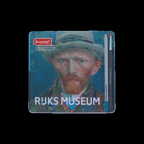Rijksmuseum Bruynzeel Lápices Acuarelables x24 - Autoretrato Van Gogh