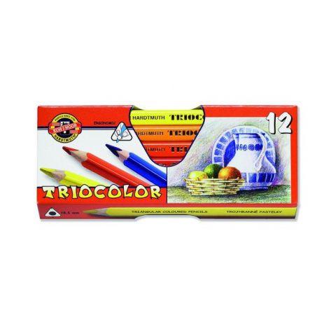 Caja de lápices triocolor koh-i-noor x 12