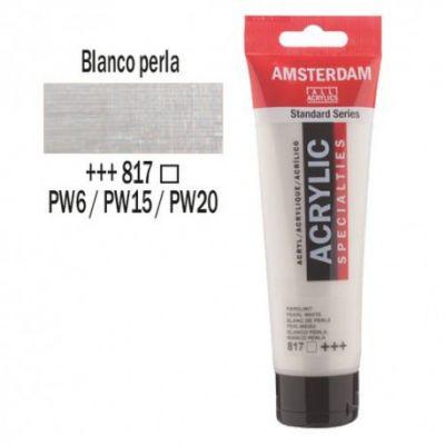 Acrílico Amsterdam 120ml - BLANCO PERLA 817
