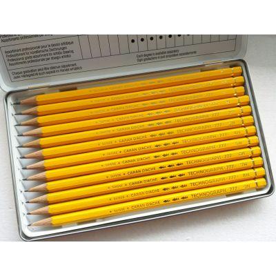 Technograph x12 lápices graduados de grafito