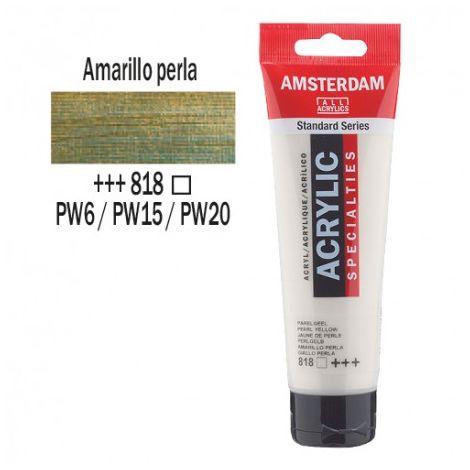 Acrílico Amsterdam 120ml - AMARILLO PERLADO 818