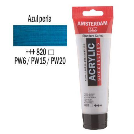 Acrílico Amsterdam 120ml Azul Perla 820