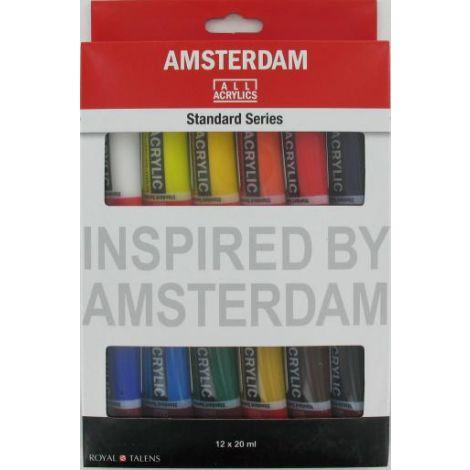 Acrilico Amsterdam 12 unidades de 20ml
