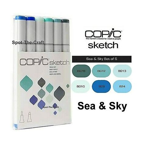 Copic Sketch x6 sea & sky