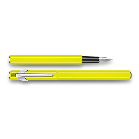 Pluma Estilográfica 849 Metal - Amarillo Fluo