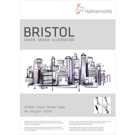 Block Bristol A4 250gr 20h